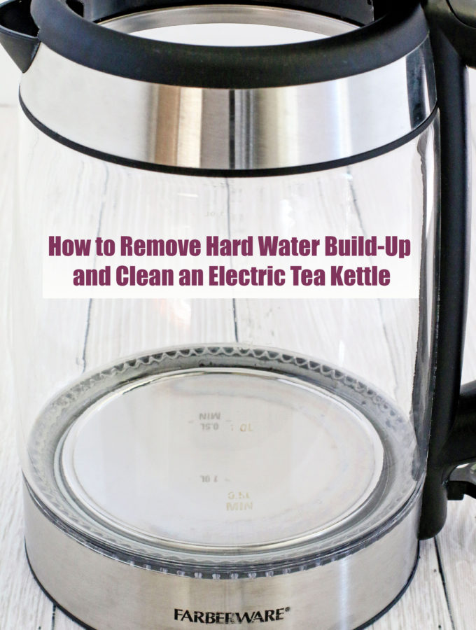 The electric kettle is a very common and handy little kitchen appliance, because of its convenience and quicker boiling than a stove top kettle. With colder temperatures approaching it gets used even more at my house. And that means even more cleaning is necessary.