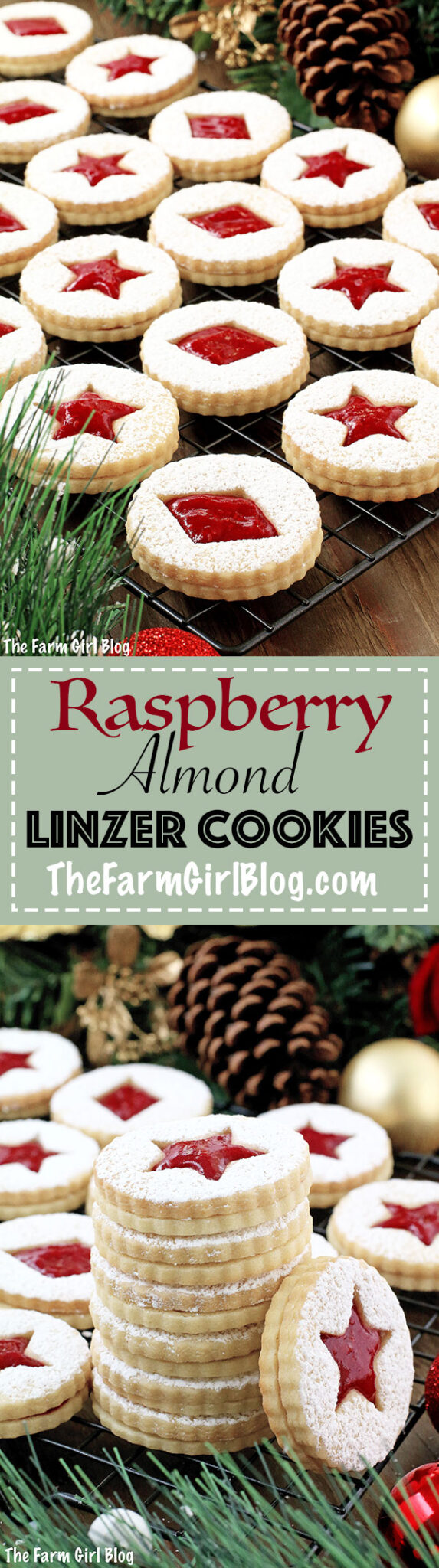 A super easy cookie recipe that will make your taste buds dance! Crunchy at first, before they're assembled, but soften once they absorb the jam filling. Either way, they are so delicious and bursting with raspberry flavor! You simply won't be able to resist going for more! That is, if the kids leave any... They look beautiful, delicate and festive. Perfect for the winter holiday season with a snow sprinkled design.