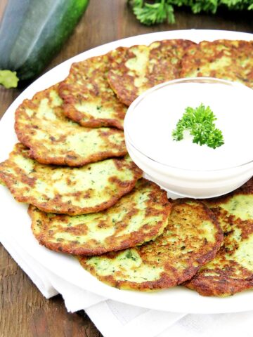 #zucchinipancakes #homegrownzucchini #organicgarlic #organiczucchini #thefarmgirlblog
