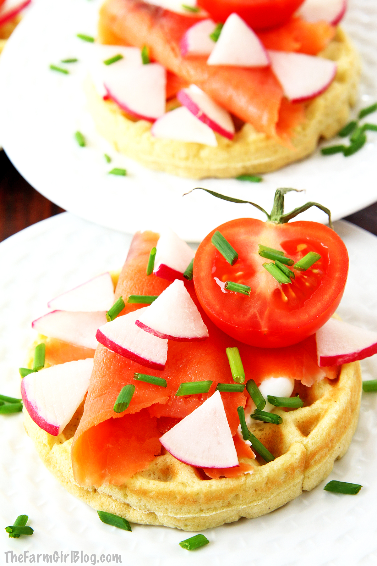 These Gluten-Free Waffles Recipe (Video) are light, tender, fluffy, low carb, keto-approved, and that actually tastes amazing! You can serve these waffles savory way is to top it with some Greek yogurt, salmon and your favorite vegetables or sweet with a large dollop of whipped heavy cream and drizzle with homemade strawberry sauce!