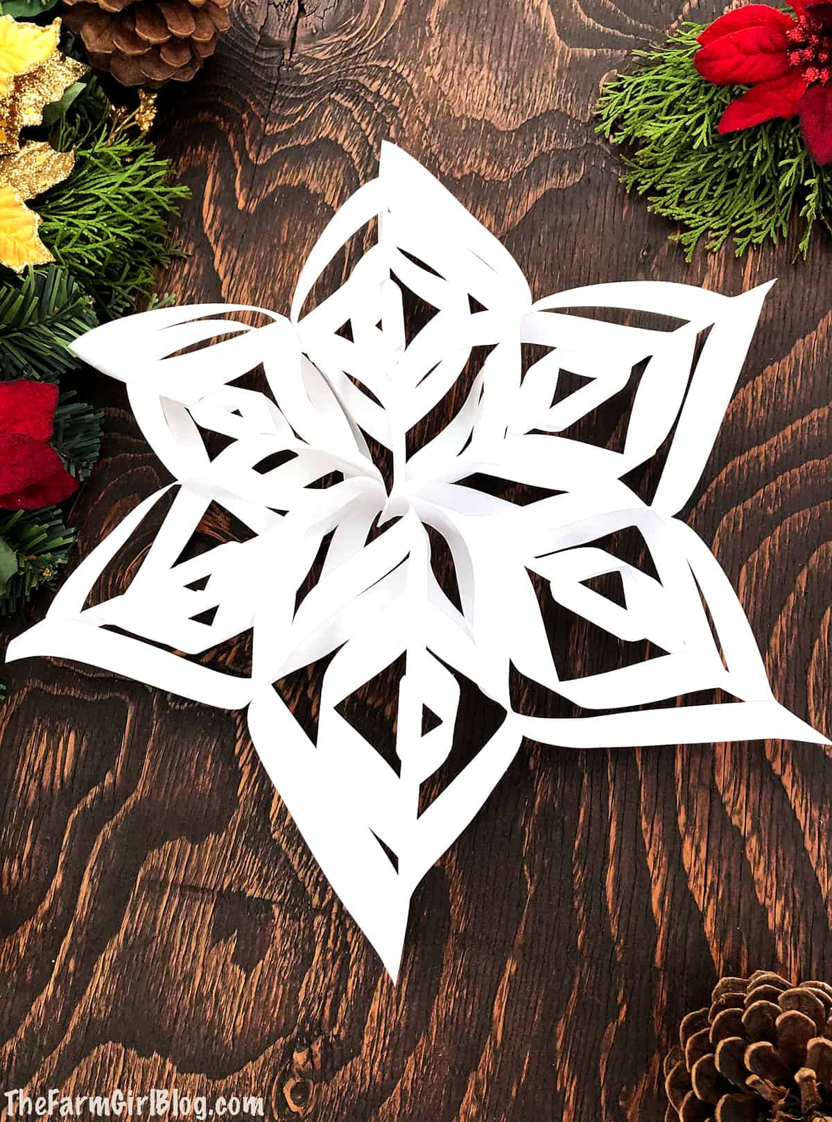 Kids' Christmas break is just around the corner and I have the perfect project for them to do alone or as a family. These Easy 3D Paper Snowflakes are so much fun to make not only for kids but adults enjoy them as well.